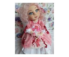 Анетта - шарнирная текстильная кукла