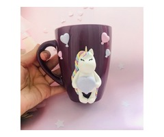 Чашка с декором «Единорожик»