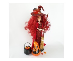 Красная ведьма декор для Хэллоуина