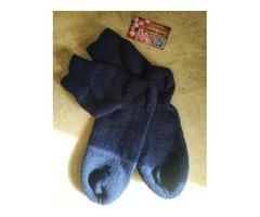 Носки тёмно-синего цвета 45-46 размера (30 см по стельке)