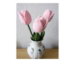 Тюльпан вязаный крючком