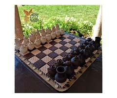 Глиняные гончарные шахматы