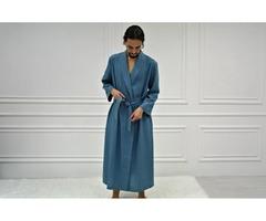Мужской льняной халат, мужской халат из натурального льна