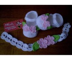 Пинетки вязание с повязочкою