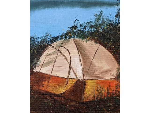 Картина маслом рыбалка