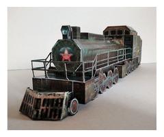 Поїзд Аврора картонна модель